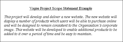 Project Scope Statement, which details the scope of a project and is vital to prevent scope creep and project failure