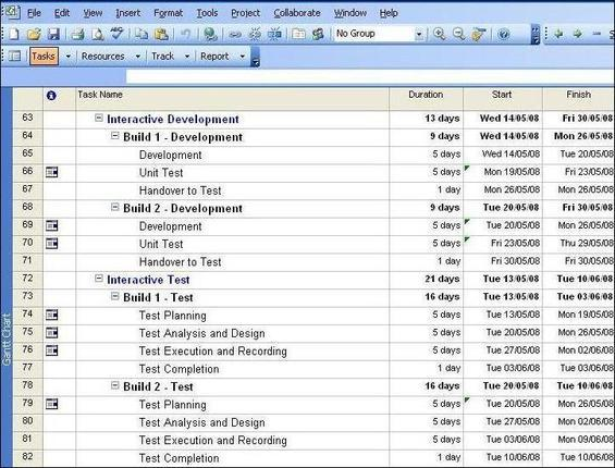 Web Project Plan which demonstrates how one looks and what it involves